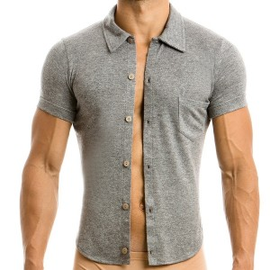 MOHAIR SHIRT GREY