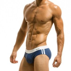 MELANZE BRIEF BLUE