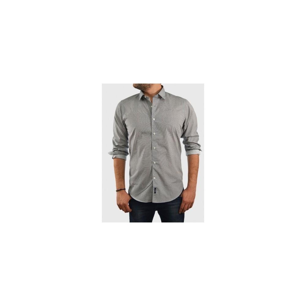 b3b98cbe4aca Ανδρικό πουκάμισο με μαύρο μικροσχέδιο