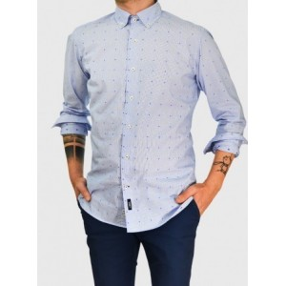 Ανδρικό ριγέ πουκάμισο μικροσχέδιο