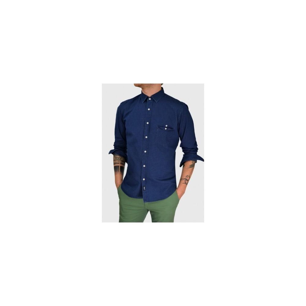Ανδρικό τζιν πουκάμισο slim fit