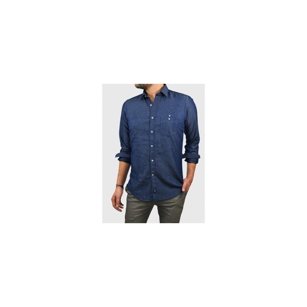 Man Denim-linen shirt