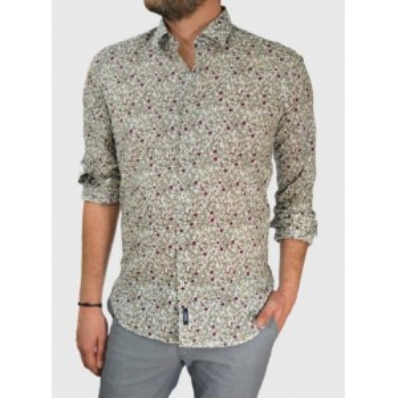 Ανδρικό πουκάμισο με λουλούδια