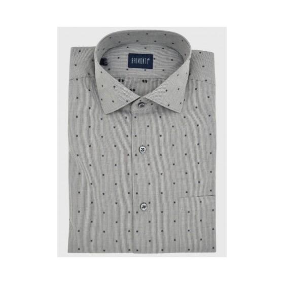 3cbe3fa25a26 Ανδρικό πουκάμισο ρίγα μικροσχέδιο ...
