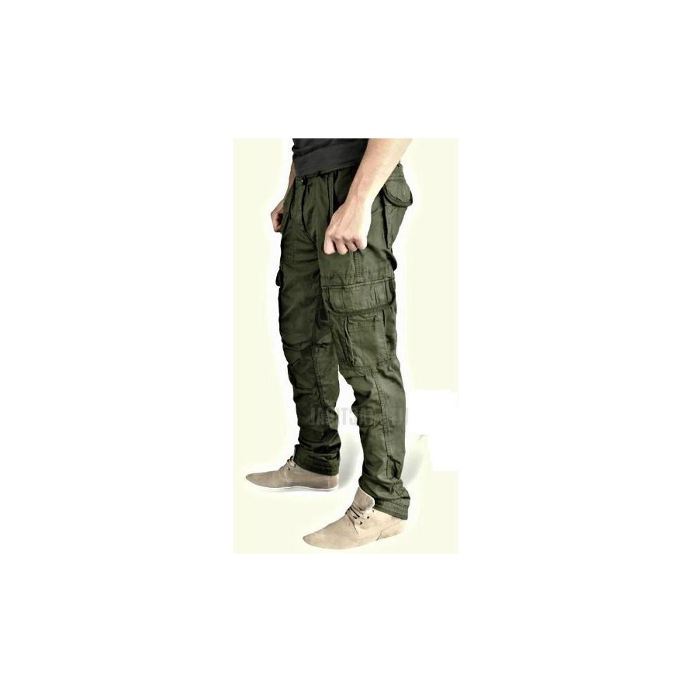 Ανδρικό παντελόνι SLIMMY CARGO Λαδί
