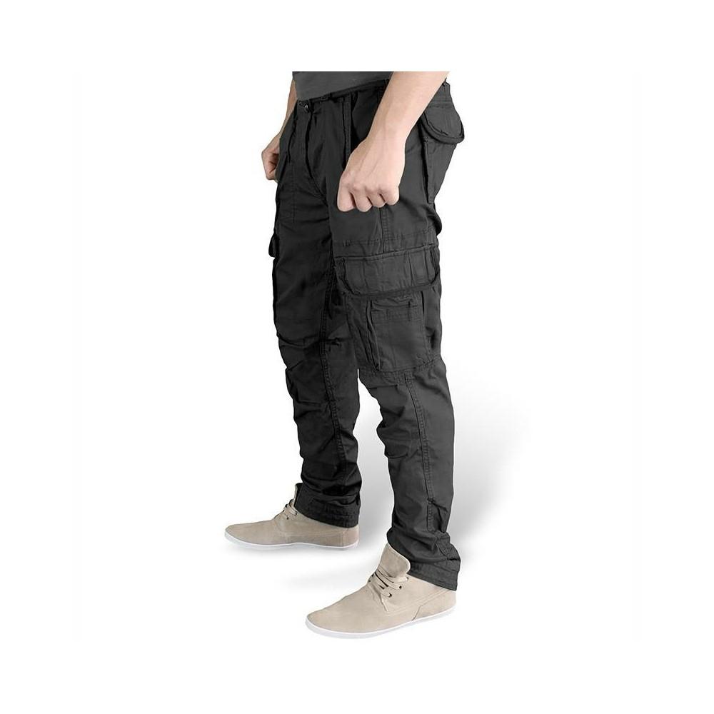 Ανδρικό παντελόνι SLIMMY CARGO Μαύρο