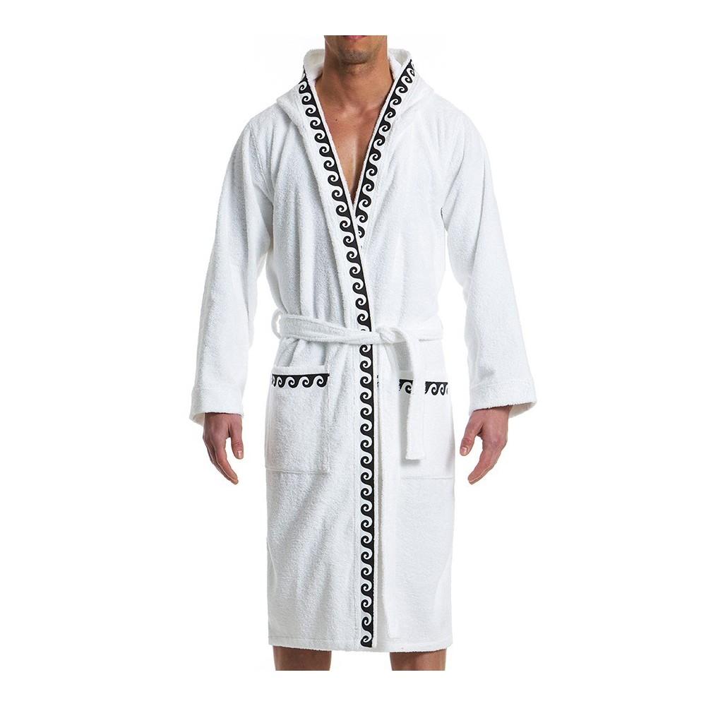 Ανδρικό πετσετέ μπουρνούζι λευκό