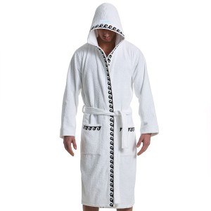 ICONIC BATH TOWEL ROBE WHITE