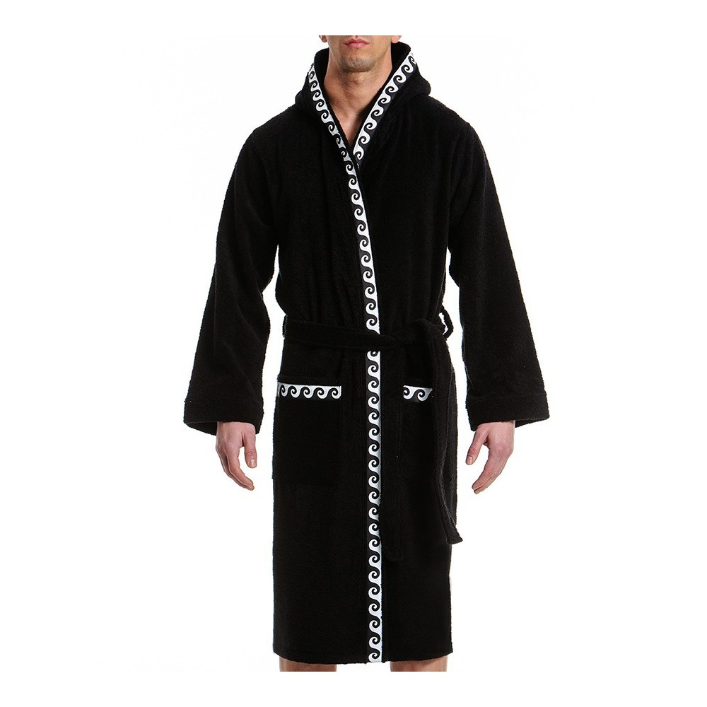 ICONIC BATH TOWEL ROBE BLACK