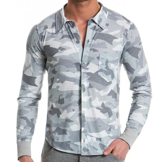 Ανδρικό πουκάμισο παραλλαγής - Γκρί 11751