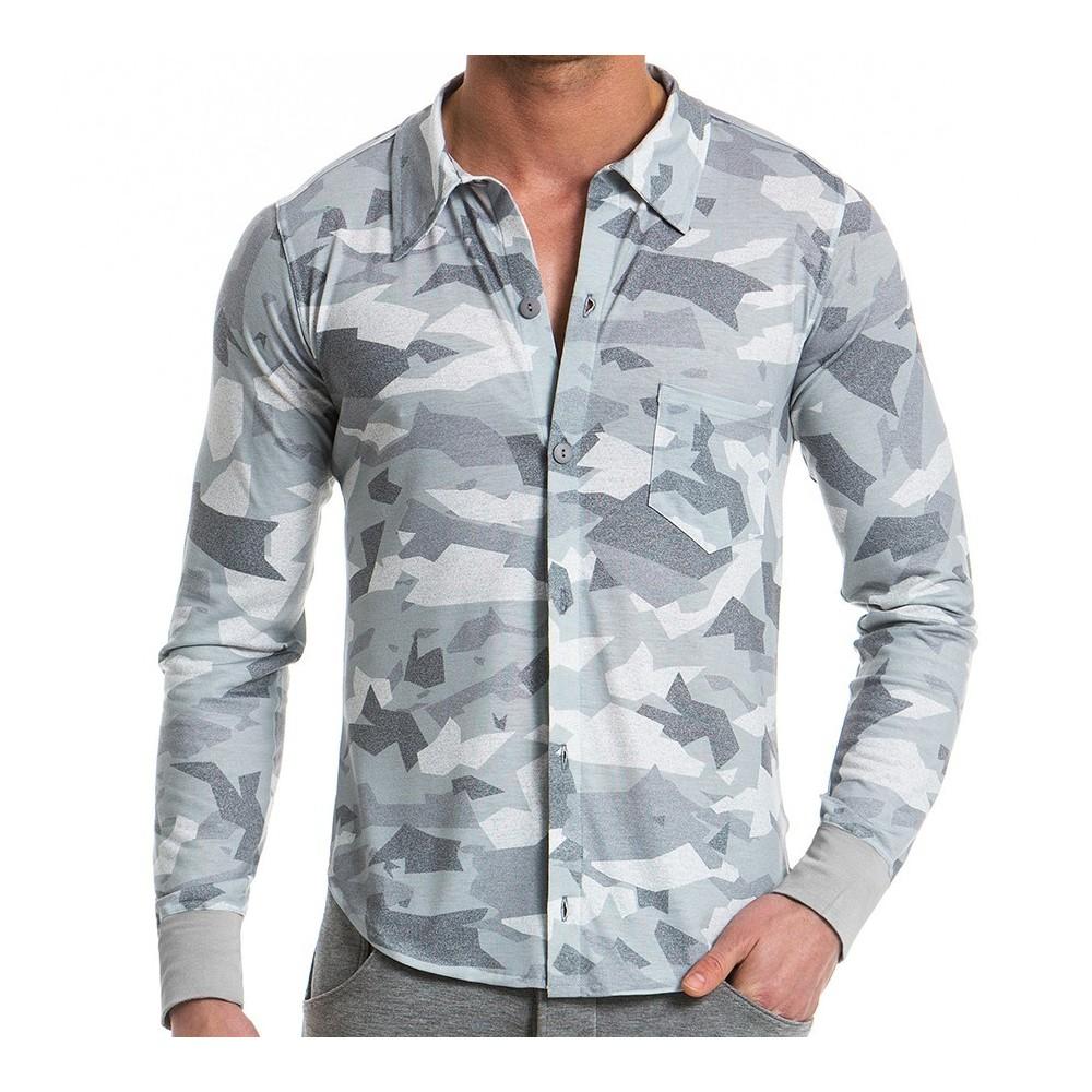 Ανδρικό πουκάμισο παραλλαγής - Γκρί