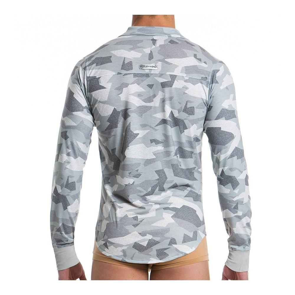 6cdf09762467 Ανδρικό πουκάμισο παραλλαγής - Γκρί