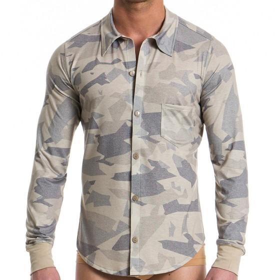 Ανδρικό πουκάμισο παραλλαγής - Άμμου
