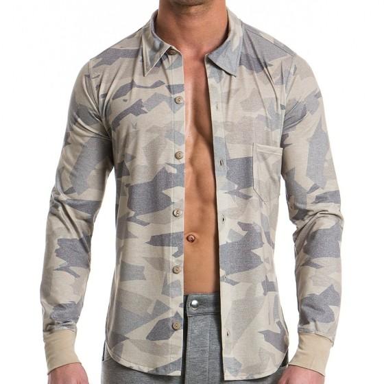 Ανδρικό πουκάμισο παραλλαγής - Άμμου 11751