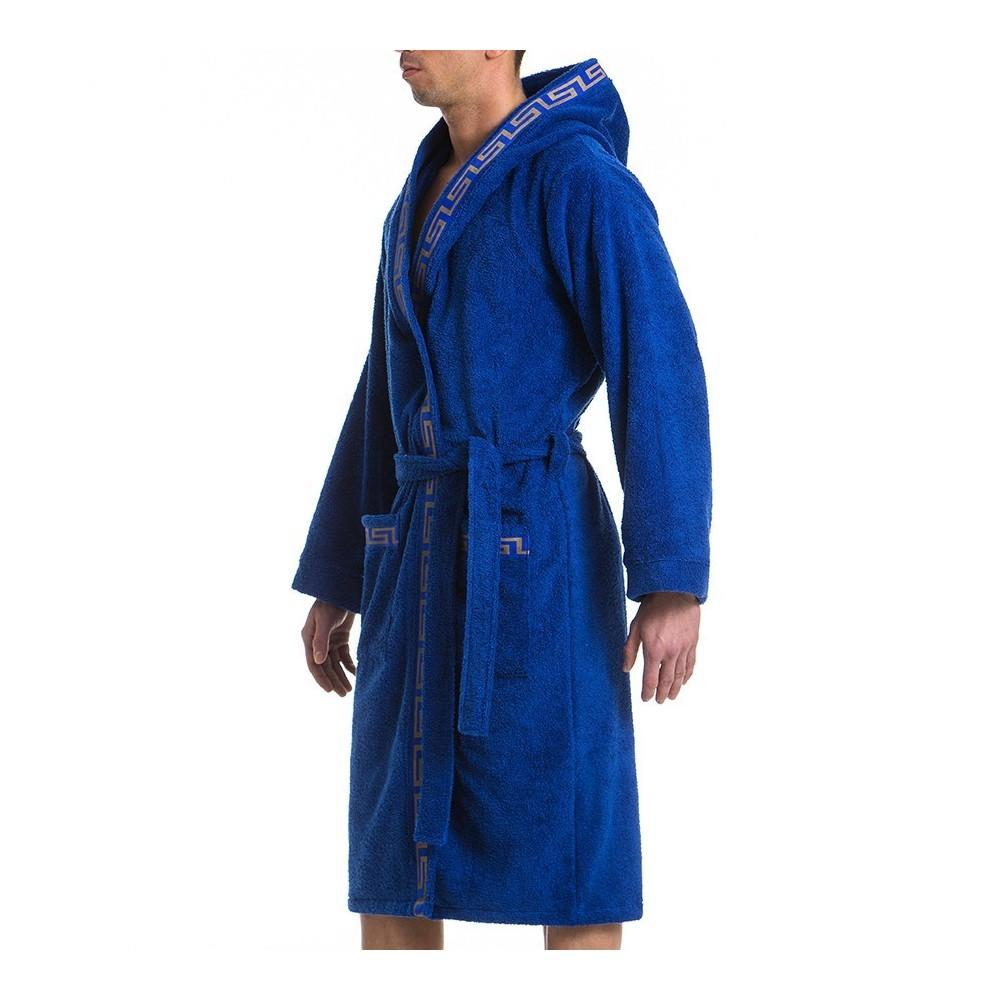 MEANDER BATH TOWEL ROBE - BLUE 12e8b851e
