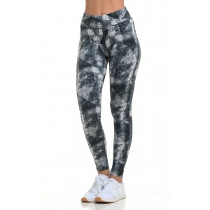 Women's leggings with print Black