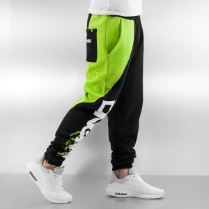 Sweat Pants in black / green