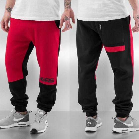 Ανδρικό Παντελόνι Φόρμας Μαύρο / Κόκκινο