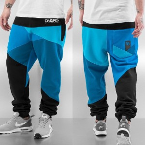 Sweat Pants in black / blue