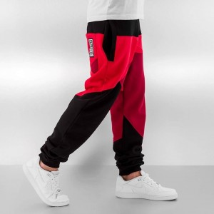 Sweat Pants in black / red