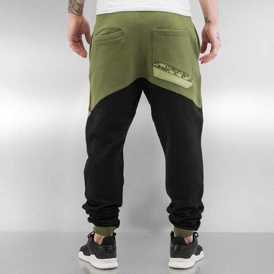 Ανδρικό Παντελόνι Φόρμας Μαύρο / Λαδί