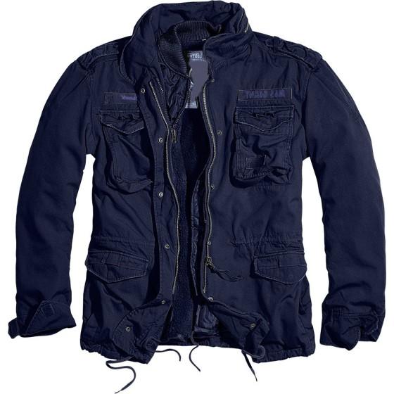 Ανδρικό μπουφάν με κουκούλα Navy