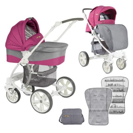 Baby stoller 2 in 1 SAVANA ROSE&GREY