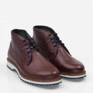 Men's Shoes Leather Bordeaux