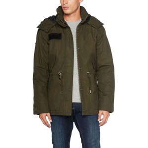 Men nile coated parka washed Olive