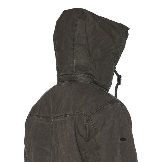 Ανδρικό μπουφάν με κουκούλα nile Parka washed Μαύρο