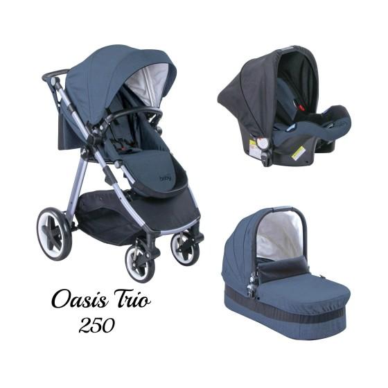 Παιδικό καρότσι JUST BABY OASIS 3 in 1 BLUE Αναστρέψιμο με πόρτ μπεμπέ