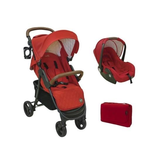 Παιδικό πολυκαρότσι JOE DUO 2 in 1 RED