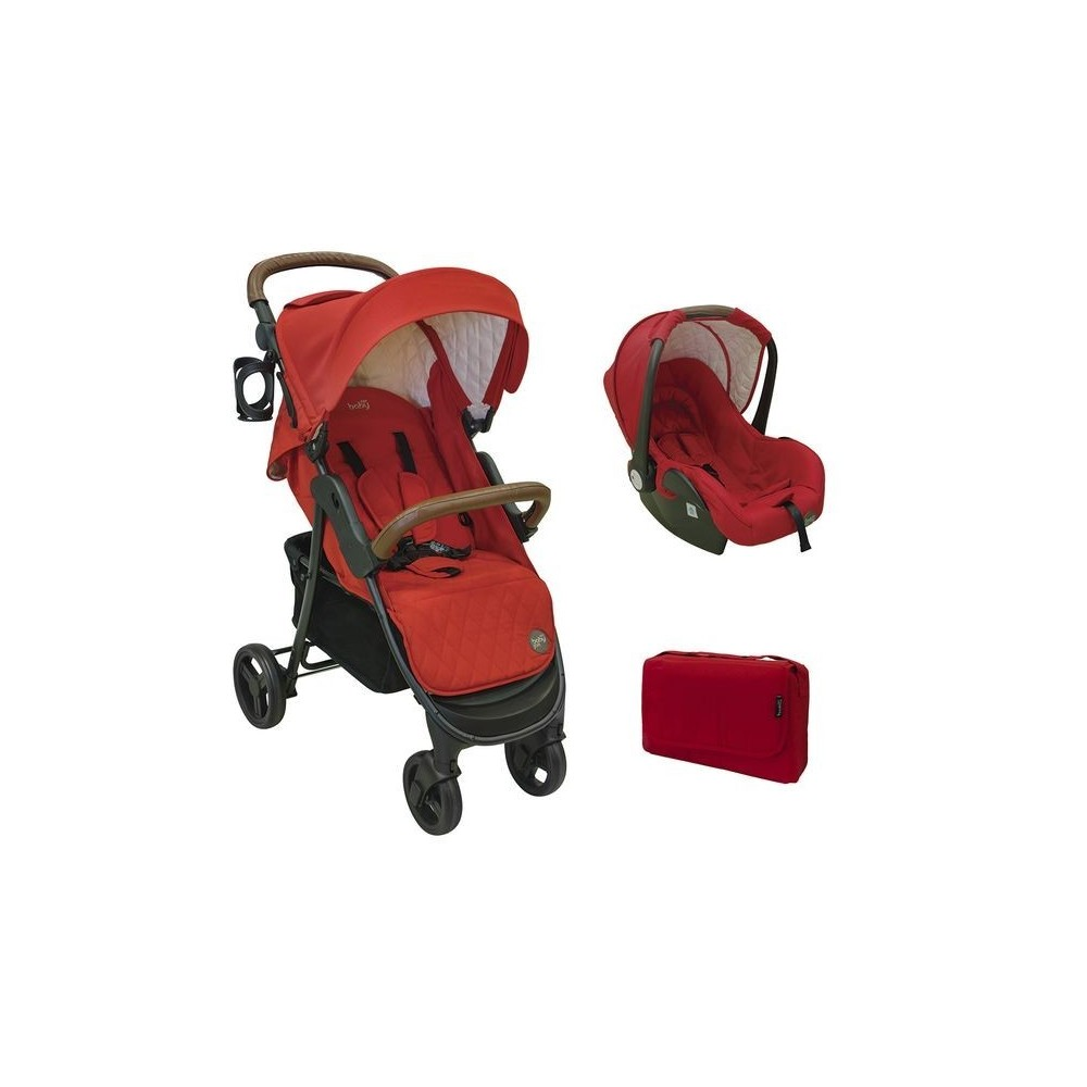 Stroller  JUST BABY  JOE DUO 2 in 1 RED