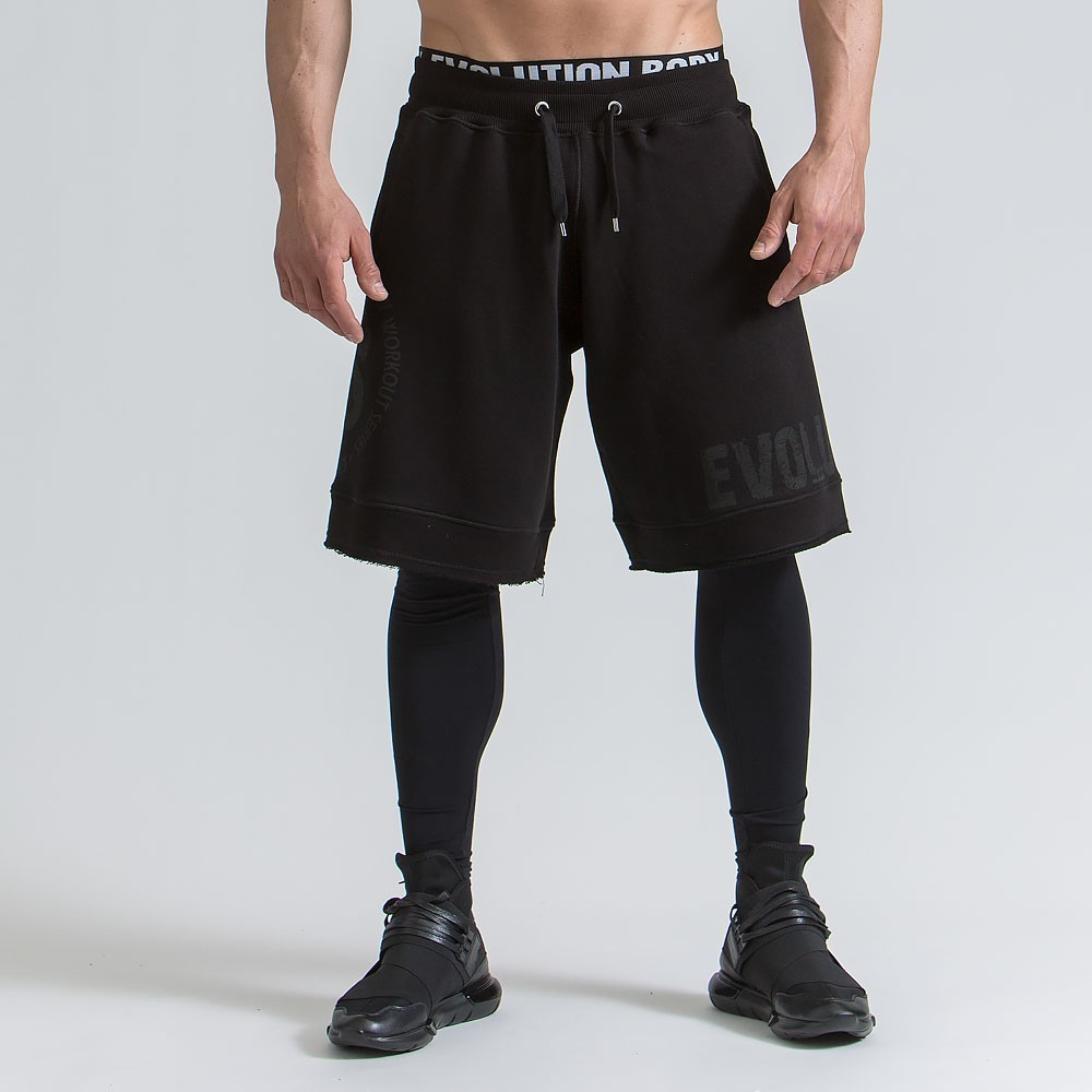 Men's active shorts - Black