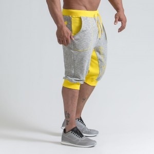 MEN'S TRAINING SHORTS - YELLOW