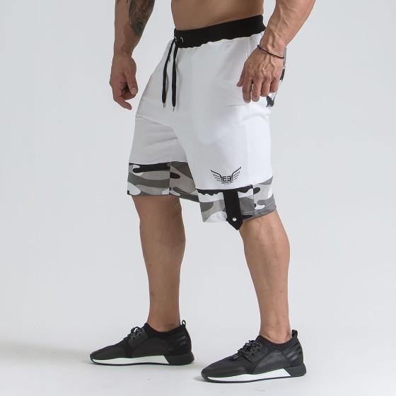 Men's camo shorts - White