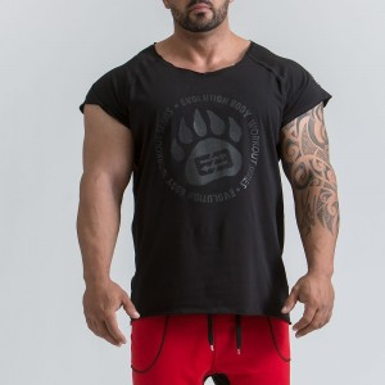 Ανδρικό αθλητικό T-shirt - Μαύρο