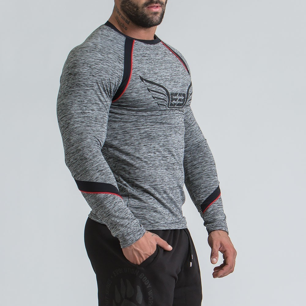 MEN'S LONG SLEEVE DRI-FIT SWEATSHIRT - GREY