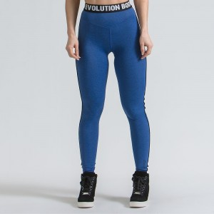 WOMEN'S DRI-FIT TRAINING TIGHTS ACTIVE - BLUE
