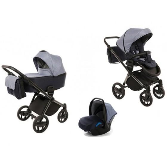 Baby stroller 3 in 1 Invictus V-Plus Navy Blue