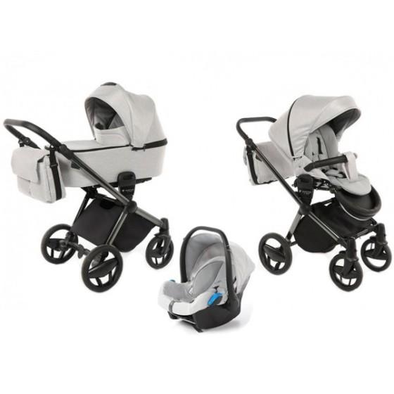 Baby stroller 3 in 1 Invictus V-Plus Light Grey
