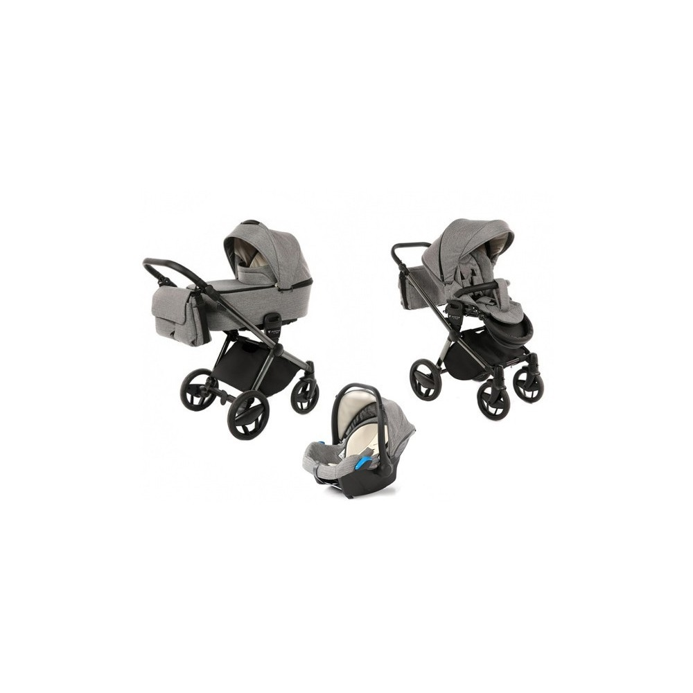 Baby stroller 3 in 1 Invictus V-Plus Graphit