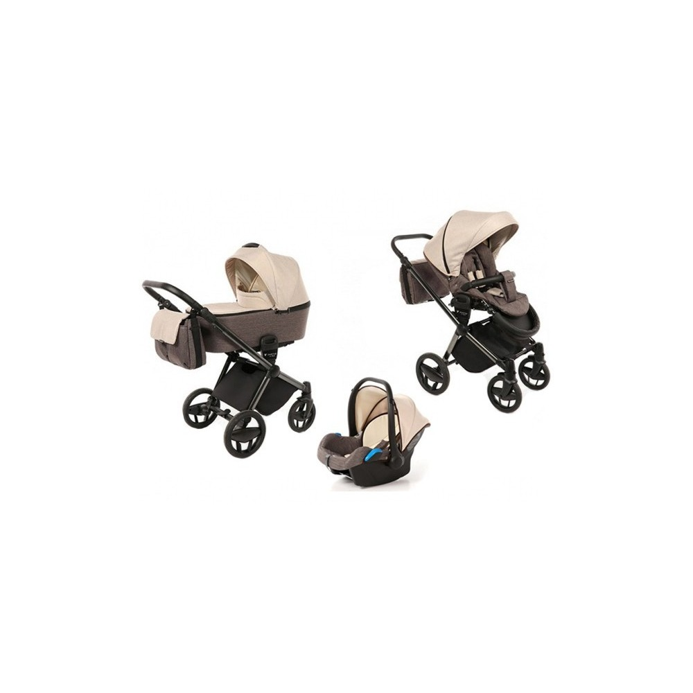 Baby stroller 3 in 1 Invictus V-Plus Brown & Beige