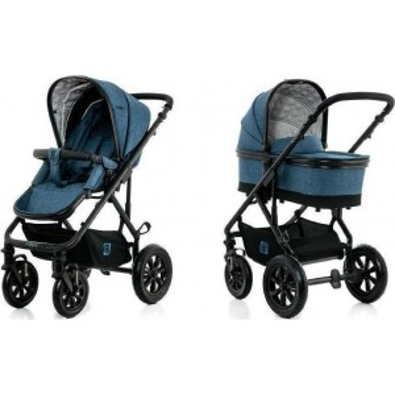 Baby stroller NUOVA CITY3  2 in 1 blue MELANGE