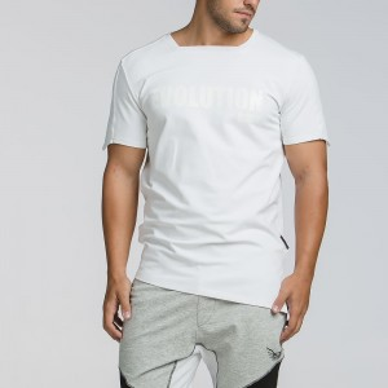 Ανδρικό ελαστικό t-shirt 2064WHITE