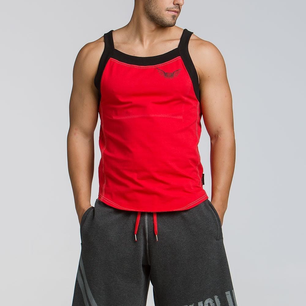 Ανδρικό αθλητικό τιραντά T-shirt - Κόκκινο