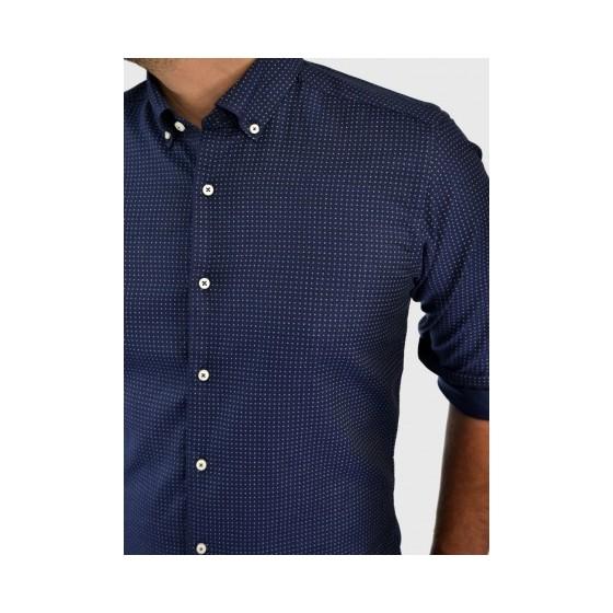 Ανδρικό πουκάμισο με σχέδιο μπλέ