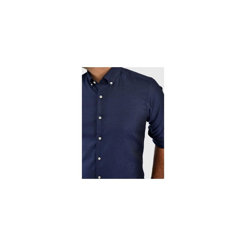 Ανδρικό πουκάμισο με σχέδιο μπλέ 01443775c66