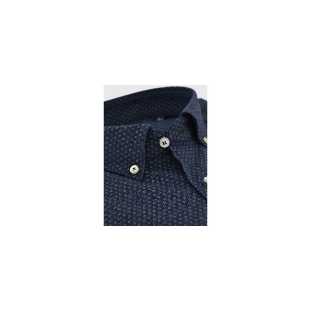 5dc553b69fc0 Ανδρικό πουκάμισο απο λεπτή φανέλα slim fit