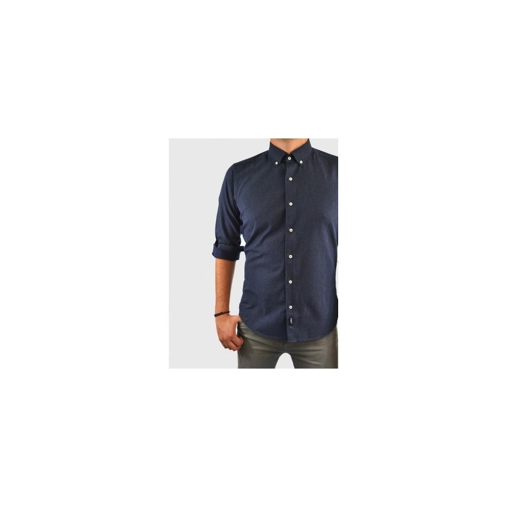 Ανδρικό πουκάμισο απο λεπτή φανέλα slim fit